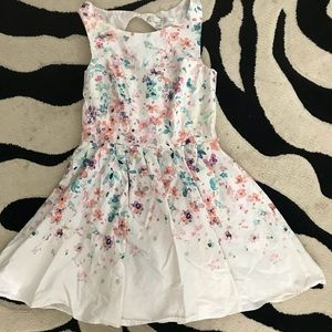 Lauren Conrad GirlA Line Floral Dress 10
